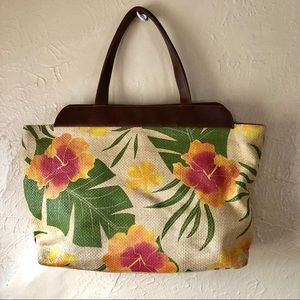Straw Cappelli Straworld Tropical Floral Bag
